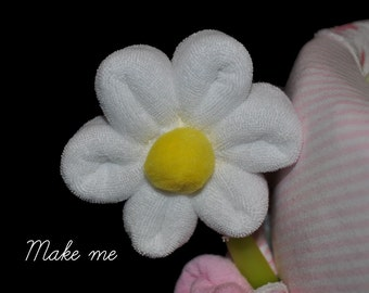 Baby Washcloth Daisy, WashAgami ™, for a diaper cake Instructional Video