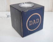 "Father's Day Gift - Navy Blue and Wood candle for ""Dad"" - FREE SHIPPING"