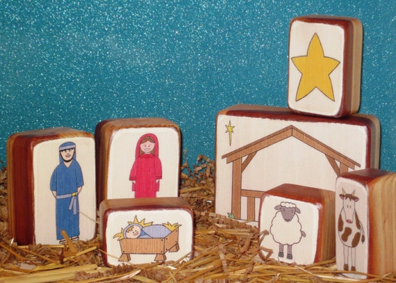 Wooden Nativity Set - Great for Kids and Parents