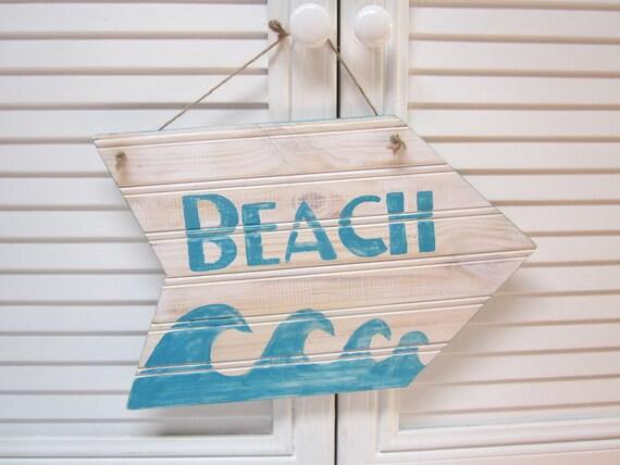 Beach House Wood Sign - Beach House Cottage Decor
