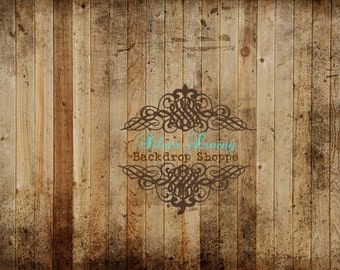 2'x2' Photography Backdrop Faux Barnwood Floor Vinyl