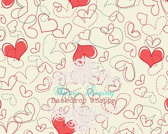 3'x4' Travel Size Valentine's Day Photography Backdrop Photo Prop