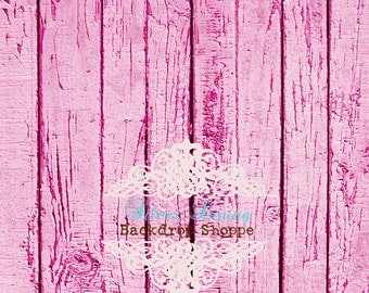 5'x6' Photography Backdrop Faux Pink Weathered Barnwood Floor