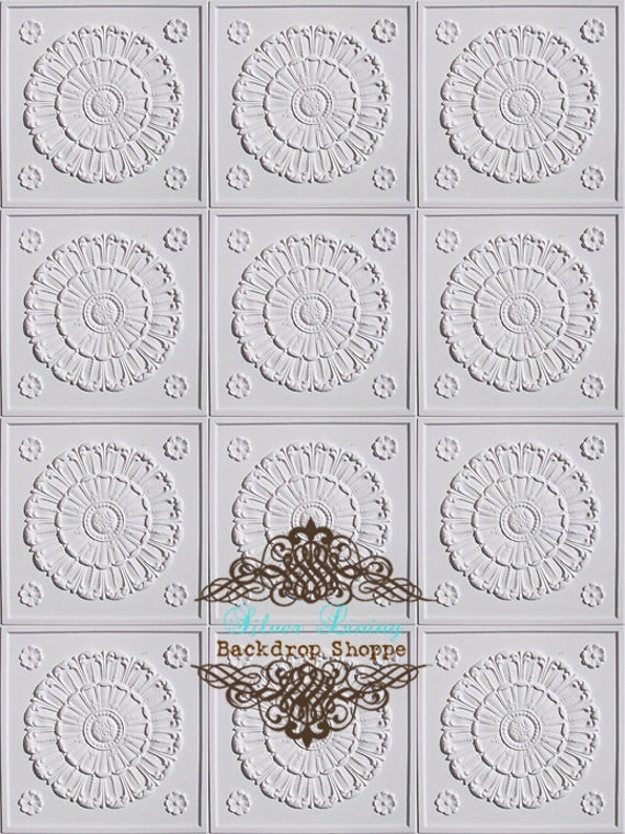 "54""x6' Photography Backdrop Antique Tiles"