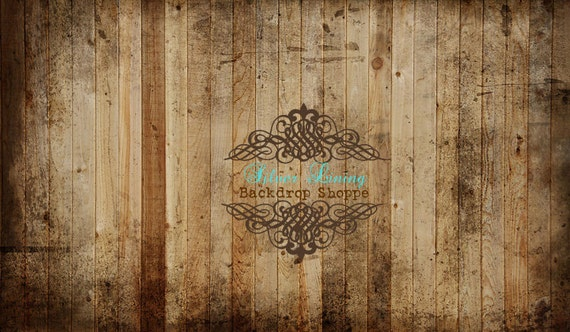 3'x4' Photography Backdrop Faux Barnwood Floor Vinyl