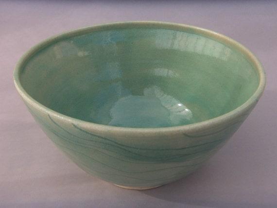 Handmade Celadon Green Stoneware Bowl