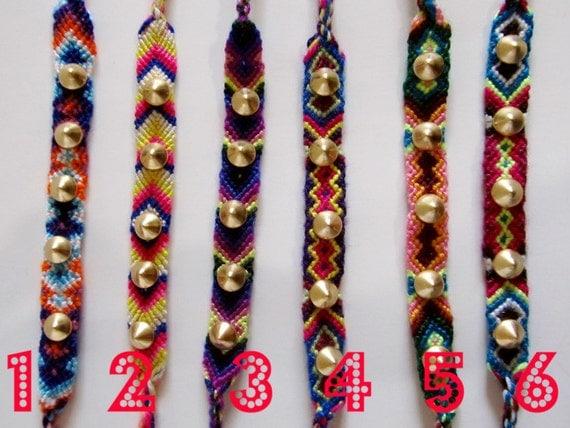 SALE Choose Spike Studded Friendship Bracelet (1) Gold