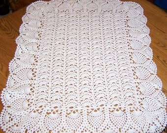 New Hand Crocheted Exquisite Pineapple Baby Afghan