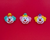 Instant Download - PDF Crochet Pattern - Clown Applique - Text instructions and SYMBOL CHART instructions