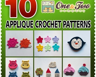Combo Pack - Choose 10 PDF Applique Crochet Patterns for 25.99 Dollars - Special Offer Pattern Pack Embellishment Accessories Animal Motif