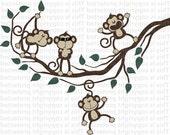Happy Monkeys With Joe Cool Monkey Jungle Friends Vinyl Wall Wall Decal 3
