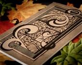 Hand Drawn Ink Design on 8 x 5 Moleskine Doodler Notebook