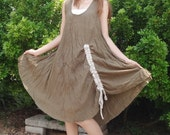 Brown(Dark olive) Party Beach Comfy lovely Dress/Blouse Free Size Fit All