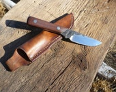 Hand forged Knife: Walnut and w1 tool steel