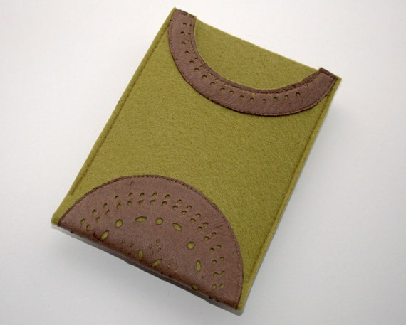 Kindle FIRE case sleeve cover synthetic felt and leather