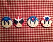 Megaman Button Set