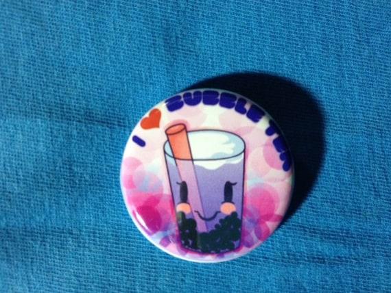 I Heart Bubble Tea Button