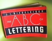 Vintage 1st Edition Lettering Book by J.I. Biegeleisen TREASURY ITEM