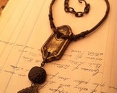 Rustic Amulet Necklace with Asian Good Luck Charm