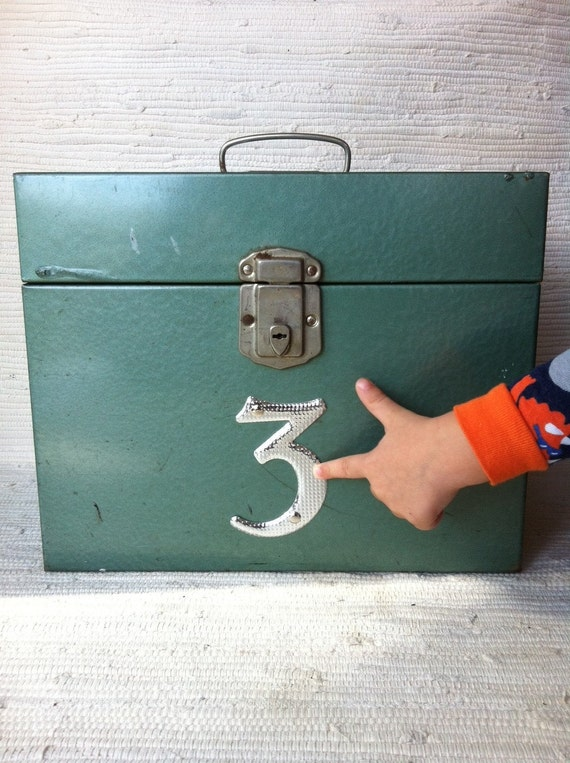 Vintage Industrial Metal Storage Box Number 3