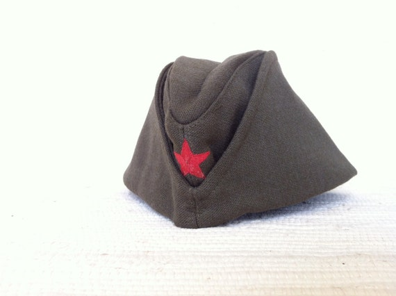 Vintage Military Surplus Army Hat From Slovenia