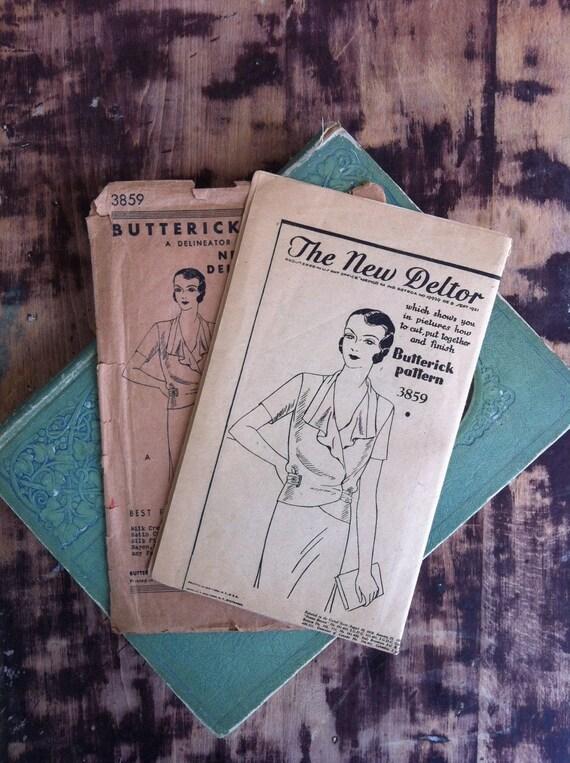 Antique Vintage 1920s Butterick Dress Pattern