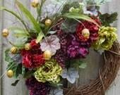 Floral Jewel Tone Wreath