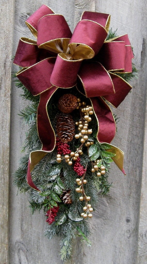 Christmas swag holiday wreaths victorian elegant designer for Classy xmas decorations