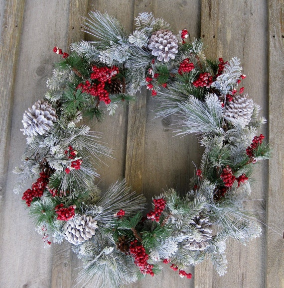 cyber monday sale holiday wreath christmas woodland wreath. Black Bedroom Furniture Sets. Home Design Ideas