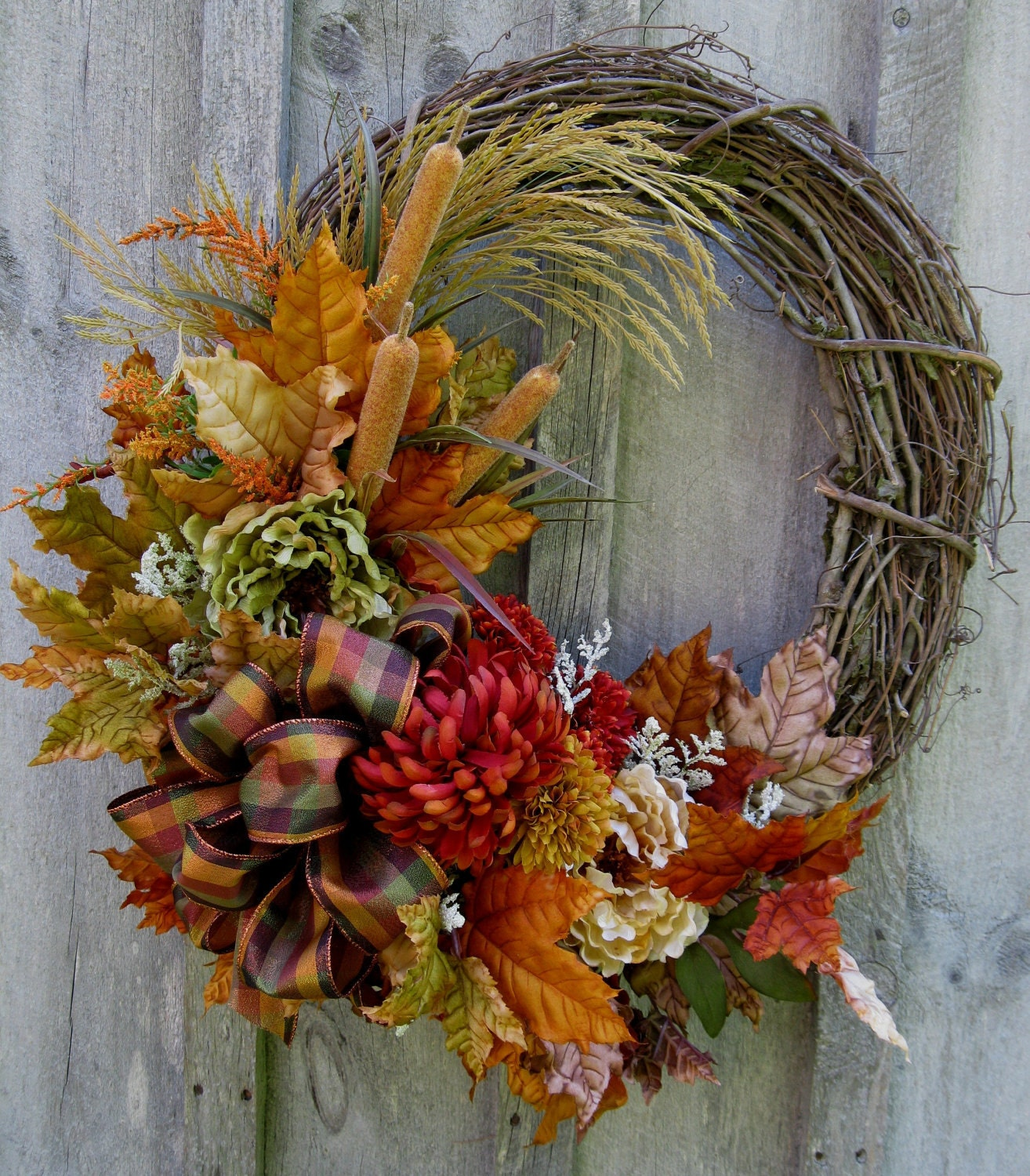 Autumn Wreath Fall Floral Wreaths Designer Decor Woodland