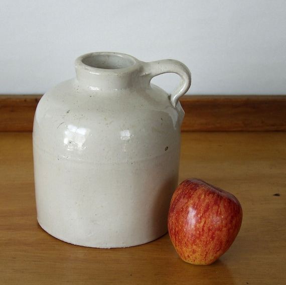 Antique Stoneware Jug Made By Macomb Pottery