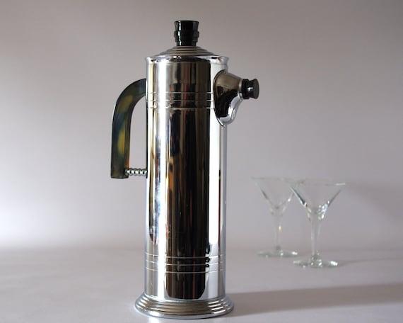 Vintage Cocktail Shaker Chrome With Bakelite Handle