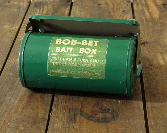 Vintage Bait Box Bob Bet By Frabill Sporting Collectible