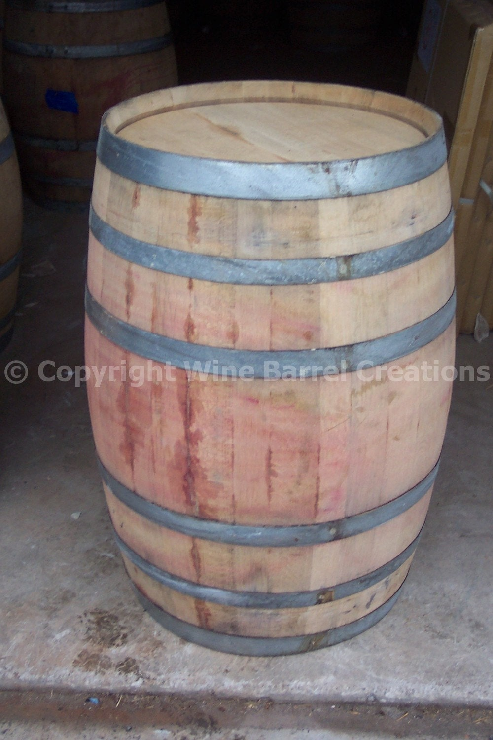 use wine barrel solid oak from a napa valley winery arched napa valley wine barrel