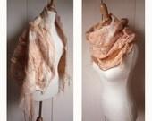 IN SALE- Merino Wool Coralic Lady Cape