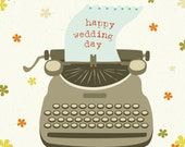 Happy Wedding Day 4.5x6 Notecard With Envelope