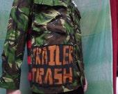 steam punk pirate pixie camo trailer trash jacket