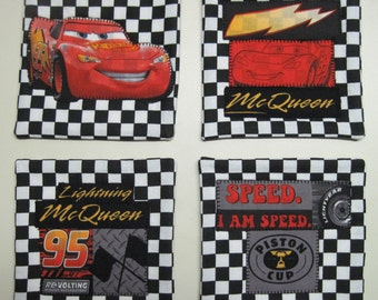 Quilted Coasters - Cars