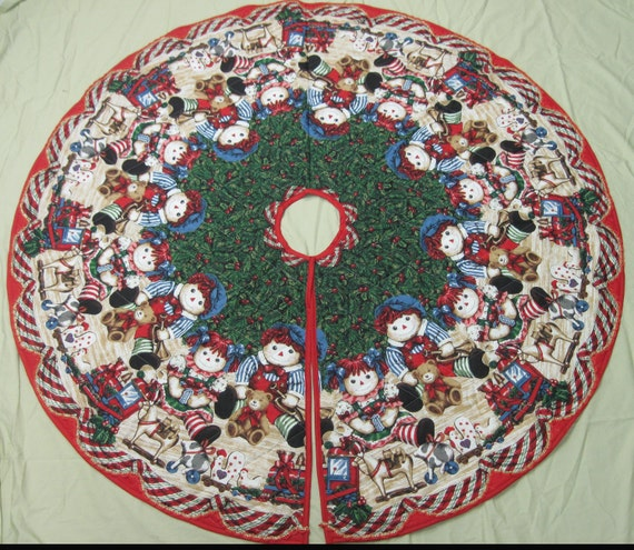 Quilted Tree Skirt - Raggety Ann and Andy