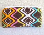 """Retro 70s Flannel Padded Pipe Pouch 5.5"""""""