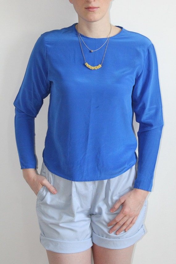 Blue Silk Top - XS / S