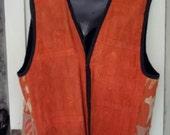 Vintage Appliqued Cotton Vest