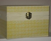Cream and Yellow Wooden Recipe Box - Donation to Medical Teams International