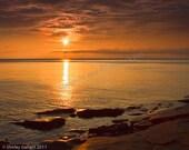 Cape Turner, PEI Glowing Orange Sunset 11x14 print