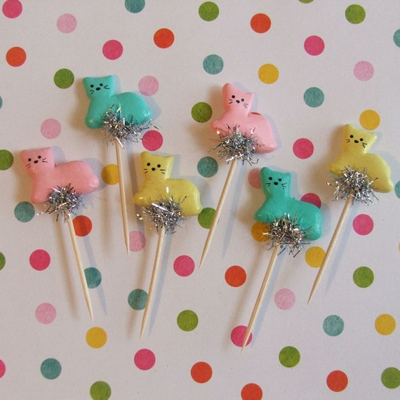 Kitschy Cats Cupcake Toppers