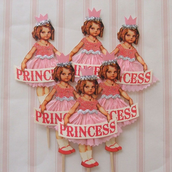 Princess Cake/Cupcake Toppers (Large)