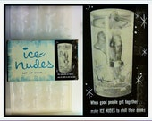 Vintage Giant Ice Nudes Ice Cube Tray Mold Ladies Float in Drinks Fun Party Bar Novelty By Dorcy