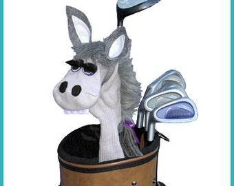 Handmade Gray Donkey Golf Club Cover
