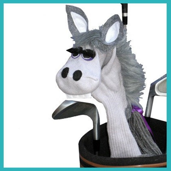Gray Horse or Donkey Handmade Golf Club Cover