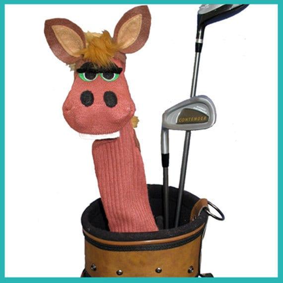 Brown Horse Handmade Designer Golf Club Cover